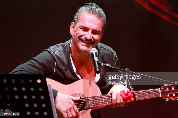 Ricardo Arjona talks and performs as part of press conference for his upcoming concert tour Circo Soledad at Coliseo Jose M Agrelot on August 15 2017...