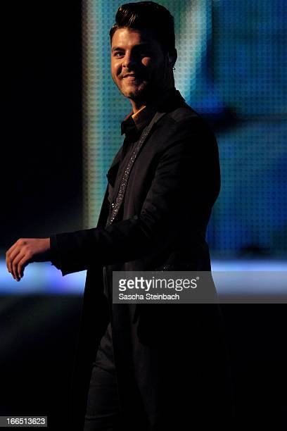 Ricardo Bielecki is seen prior to the rehearsal of the fifth 'Deutschland Sucht Den Superstar' Show at Coloneum on April 13 2013 in Cologne Germany