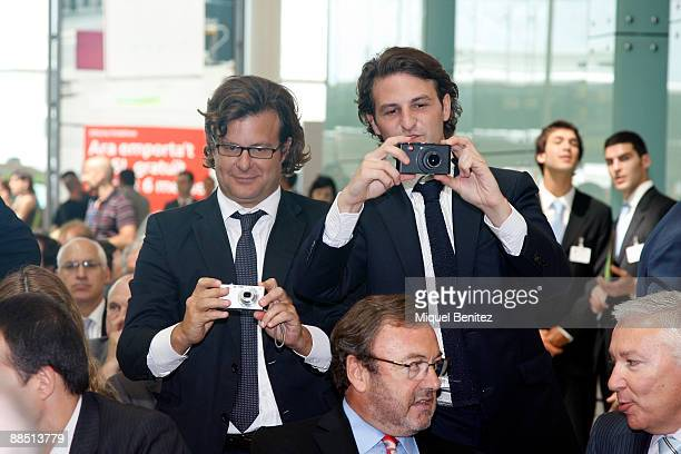 Ricardo Bofill Jr and Pablo Bofill attend the T1 Terminal official opening at El Prat Airport on June 16 2009 in El Prat de Llobregat Spain The new...