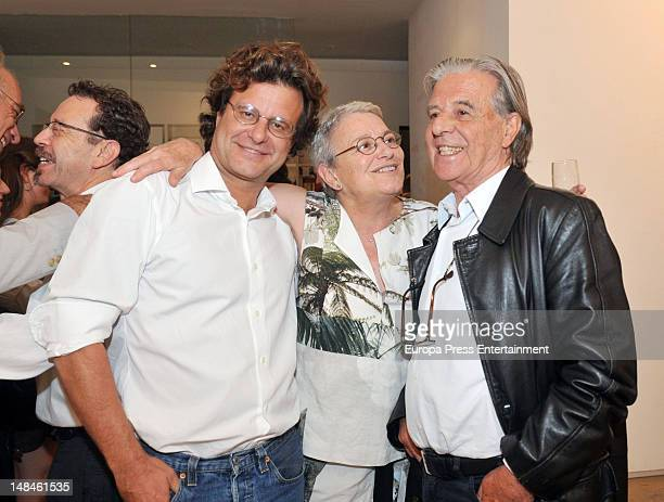 Ricardo Bofill jr and Ricardo Bofill attends the picture exhibition by Serena Vergano architectRicardo Bofill's wife on July 12 2012 in Barcelona...