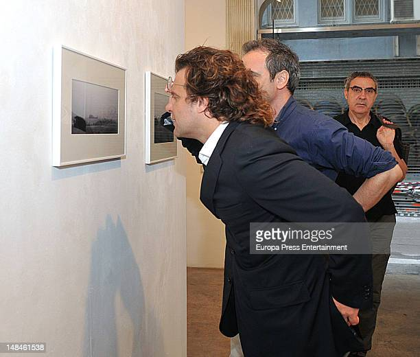 Ricardo Bofill jr attends the picture exhibition by Serena Vergano architectRicardo Bofill's wife on July 12 2012 in Barcelona Spain