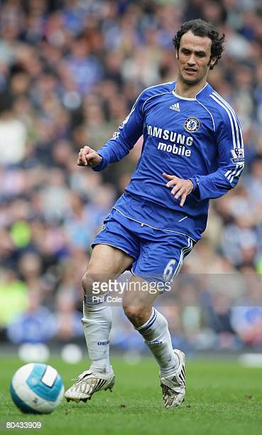 Ricardo Carvalho of Chelsea in action during the Barclays Premier League match between Chelsea and Middlesbrough at Stamford Bridge on March 30 2008...