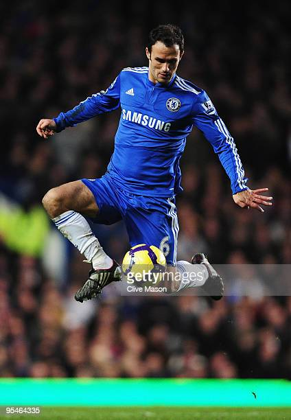 Ricardo Carvalho of Chelsea in action during the Barclays Premier League match between Chelsea and Fulham at Stamford Bridge on December 28, 2009 in...