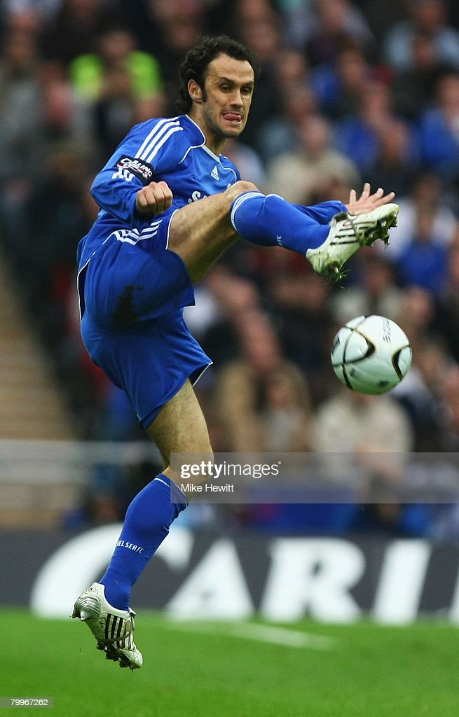 Ricardo Carvalho of Chelsea in action during the Carling Cup Final between Tottenham Hotspur and Chelsea at Wembley Stadium on February 24, 2008 in London, England.