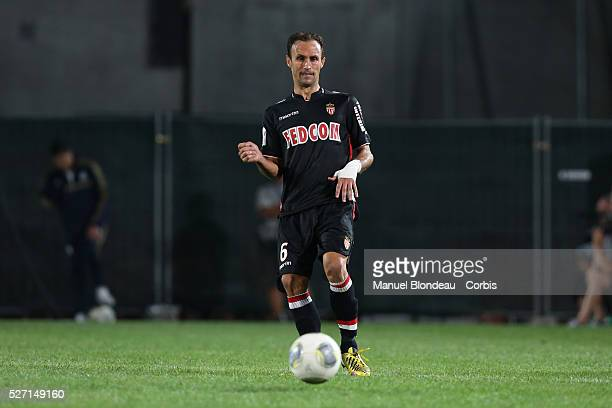 Ricardo Carvalho of Monaco during the French Ligue 1 Championship football match between Olympique de Marseille and AS Monaco at Stade Velodrome in...