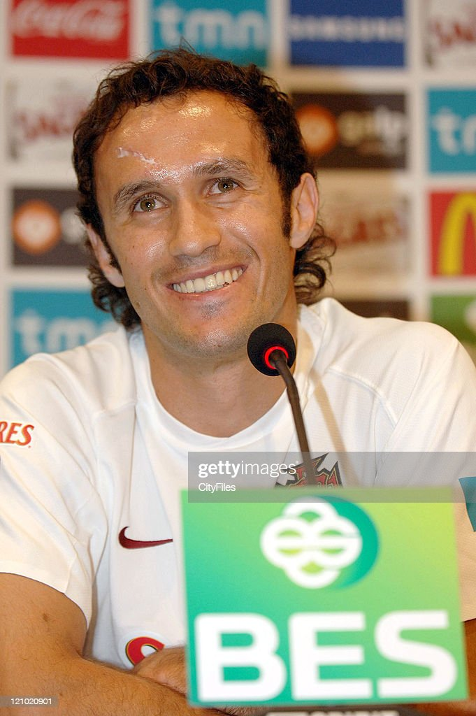Ricardo Carvalho of team Portugal National Team speaking to the media during the Portugal National Team Press Conference on May 31 , 2006 at Lisbon Portugal.