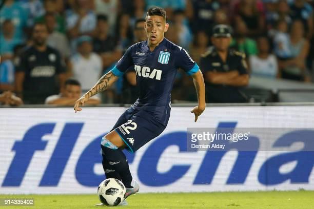 Ricardo Centurion drives the ball during a match between Racing Club and Huracan as part of Superliga Argentina 2017/18 at Presidente Peron Stadium...