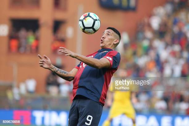 Ricardo Centurion in action during the Serie A football match between Genoa CFC and Juventus FC at Luigi Ferraris stadium on august 26 2017 in Genoa...