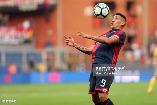 Ricardo Centurion of Genoa CFC in action during the Serie A football match between Genoa CFC and Juventus FC Genoa lost the match to Juventus by 2...