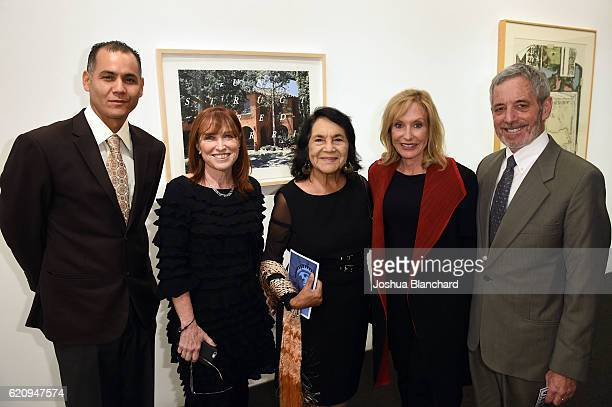 Ricardo Chavez Ellen Grinstein Perliter Dolores Huerta Ayn Grinstein Grinstein and Chuck Perliter attend Get Out The Vote Celebration for People For...