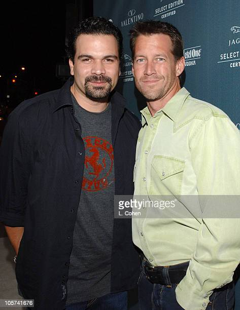 """Ricardo Chavira and James Denton during GQ and Jaguar Present """"The Roof is on Fire"""" Sponsored by Valentino - Inside at Museum of Television and Radio..."""