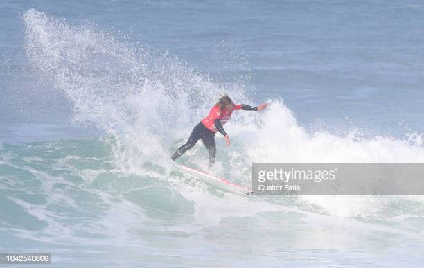 Ricardo Christie of New Zealand in action during heat 2 of round 4 of the WQS EDP Billabong Pro Ericeira of Surfing at Riberira D'Ilhas beach on...