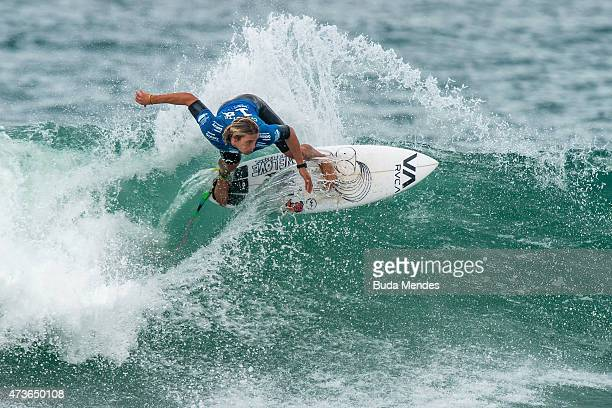Ricardo Christie of New Zealand surfs during the quarterfinals of the Oi Rio Pro on May 16 2015 in Rio de Janeiro Brazil