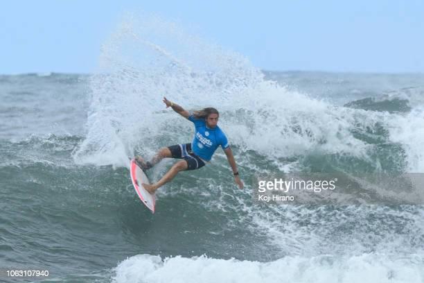 Ricardo Christie surfs during the final of the 2018 Vans Triple Crown of Surfing Hawaiian Pro on November 17 2018 in Haleiwa Hawaii