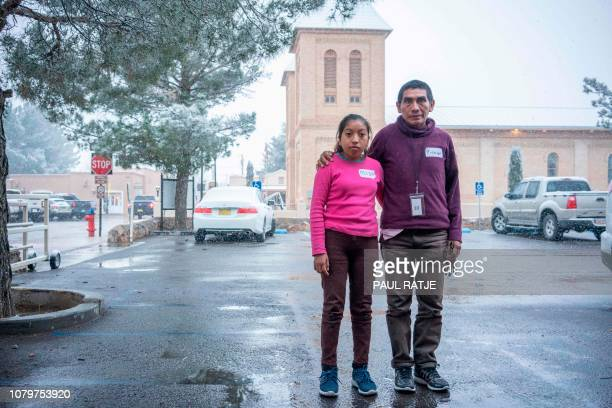 Ricardo ChubBo and his daughter Rosa Maria from Poptún in the El Petén department of Guatemala are pictured outside the church hall of the Basilica...