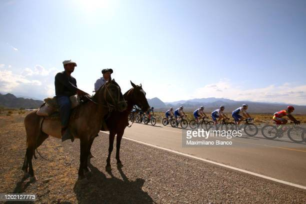 Ricardo D. Escuela of Argentina and Team Agrupacion Virgen De Fatima / Bert Van Lerberghe of Belgium and Deceuninck - Quick-Step Team / Julian...