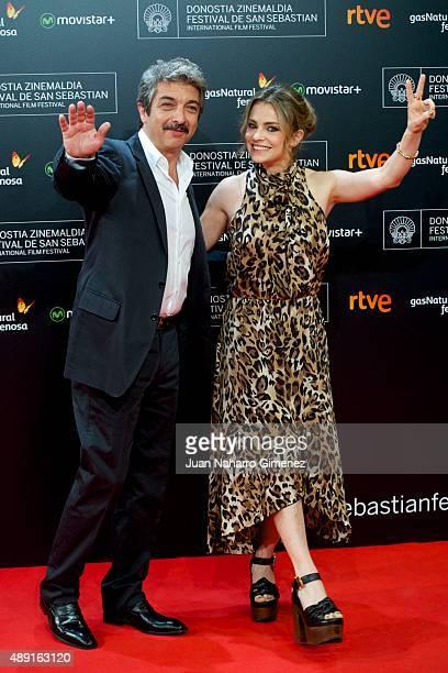 Ricardo Darin and Dolores Fonzi attend 'Truman' premiere during 63rd San Sebastian Film Festival at Kursaal on September 19 2015 in San Sebastian...