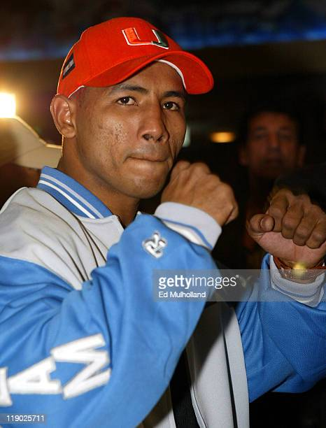 Ricardo El Matador Mayorga at the final presser for his fight with Felix Tito Trinidad The two will meet on Saturday Night at Madison Square Garden