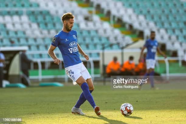 Ricardo Ferreira Os Belenenses SAD during the Liga NOS round 34 match between Vitoria FC and Belenenses SAD at Estadio do Bonfim on July 26, 2020 in...