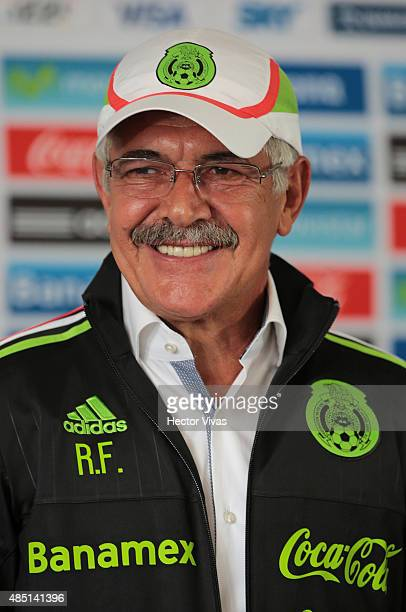 Ricardo Ferreti head coach of Mexico's National Soccer Team smiles during a press conference to unveil him as new coach of Mexico at Alto Rendimiento...