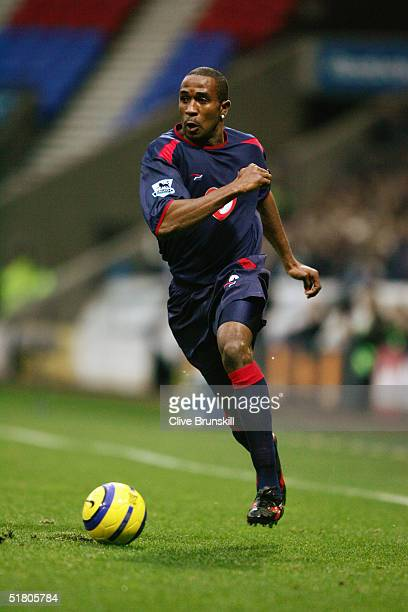 Ricardo Fuller of Portsmouth in action during the Barclays Premiership match between Bolton Wanderers and Portsmouth at the Reebok Stadium on...