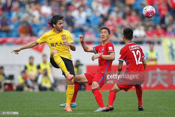 Ricardo Goulart of Guangzhou Evergrande Taobao vies for the ball during the first round match of CSL Chinese Football Association Super League...
