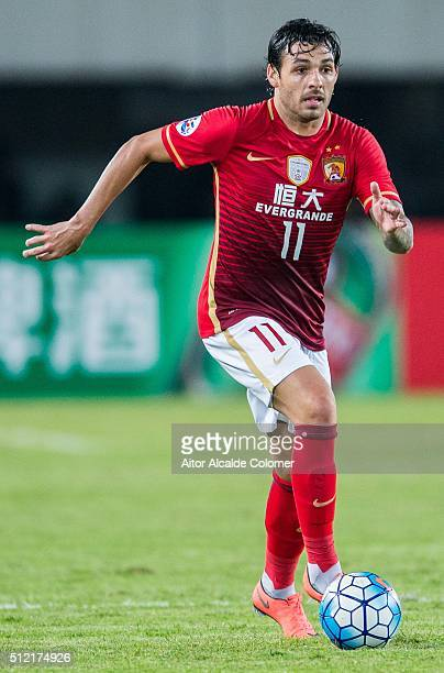 Ricardo Goulart of Guangzhou Evergrande in action during the Guangzhou Evergrande FC v Pohang Steelers match as part of the AFC Champions League 2016...