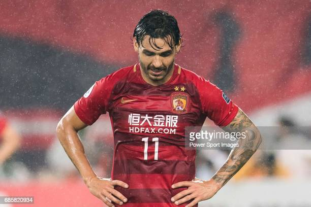 Ricardo Goulart Pereira of Guangzhou Evergrande FC reacts during their AFC Champions League 2017 Match Day 1 Group G match between Guangzhou...