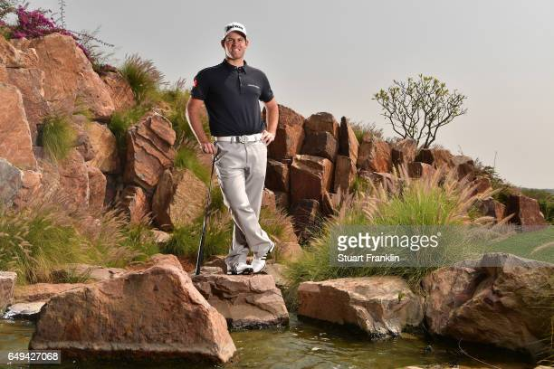 Ricardo Gouveia of Portugal poses for a picture during the pro am prior to the start of the Hero Indian Open at Dlf Golf and Country Club on March 8...