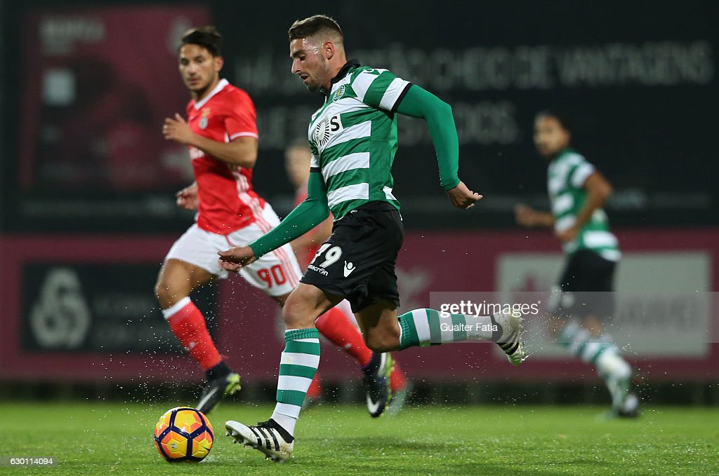 Ricardo Guima of Sporting CP B in action during the Segunda Liga match between SL Benfica B and Sporting CP B at Caixa Futebol Campus on December 16, 2016 in Seixal, Portugal.