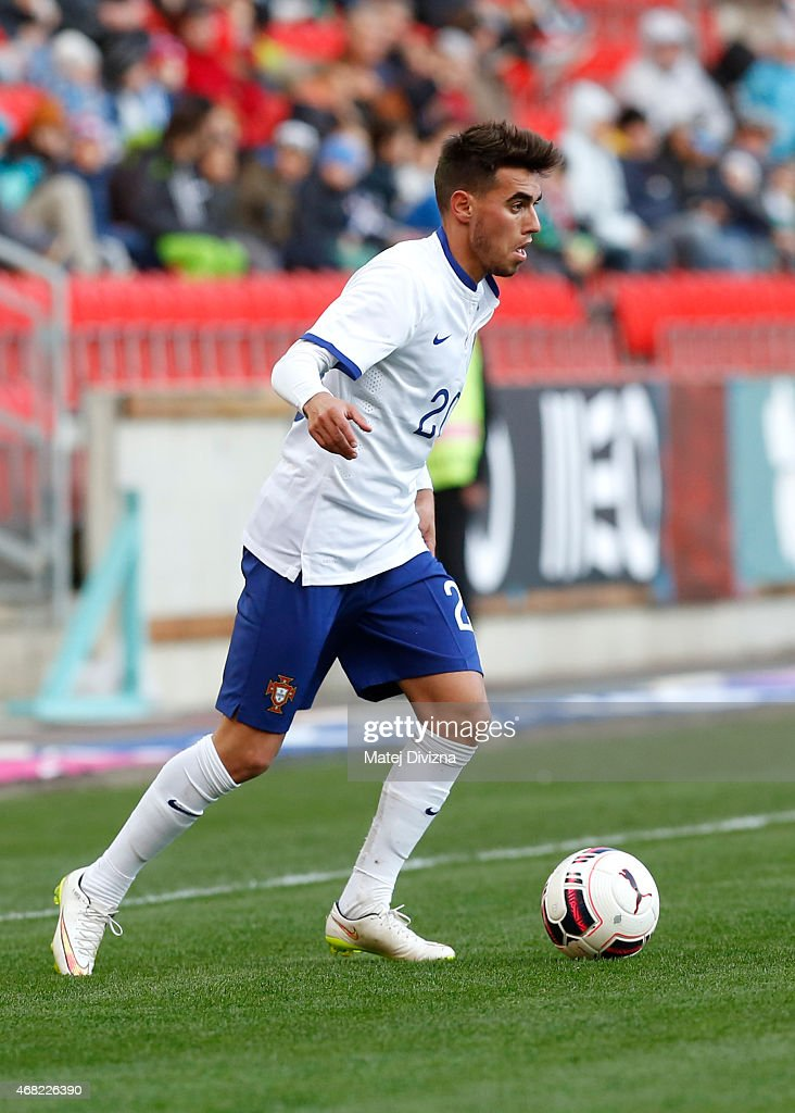 Ricardo Horta of Portugal in action during the international friendly match between U21 Czech Republic and U21 Portugal at Eden Stadium on March 31, 2015 in Prague, Czech Republic.