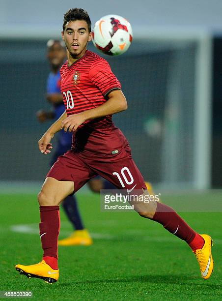 Ricardo Horta of Portugal in action during the UEFA U21 Championship second leg playoff between Portugal and Netherlands at the Mata Real Stadium on...