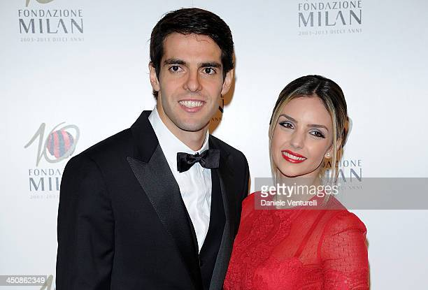 Ricardo Kaka and Caroline Celico attend Fondazione Milan 10th Anniversary Gala on November 20, 2013 in Milan, Italy.
