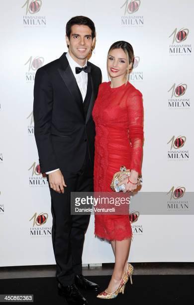 Ricardo Kaka and Caroline Celico attend Fondazione Milan 10th Anniversary Gala on November 20 2013 in Milan Italy