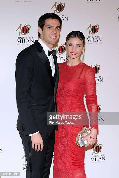 Ricardo Kaka and Caroline Celico attend the Fondazione Milan 10th Anniversary Gala photocall on November 20 2013 in Milan Italy