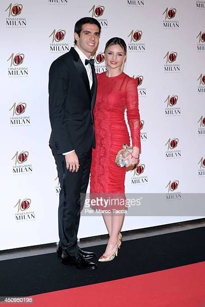 Ricardo Kaka and Caroline Celico attend the Fondazione Milan 10th Anniversary Gala photocall on November 20, 2013 in Milan, Italy.