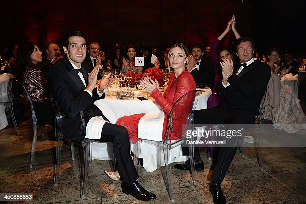 Ricardo Kaka and Caroline Celico attends the Fondazione Milan 10th Anniversary Gala on November 20, 2013 in Milan, Italy.