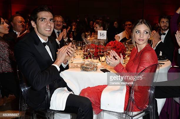 Ricardo Kaka and Caroline Celico attends the Fondazione Milan 10th Anniversary Gala on November 20 2013 in Milan Italy