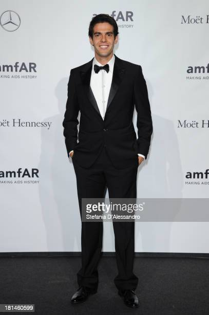 Ricardo Kaka attends the amfAR Milano 2013 Gala as part of Milan Fashion Week Womenswear Spring/Summer 2014 at La Permanente on September 21 2013 in...
