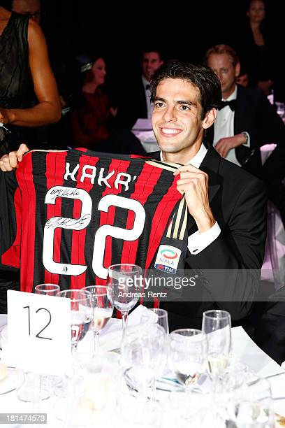 Ricardo Kaka attends the amfAR Milano 2013 Gala Dinner as part of Milan Fashion Week Womenswear Spring/Summer 2014 at La Permanente on September 21...