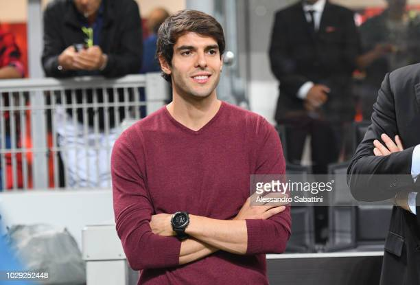Ricardo Kaka looks on during the serie A match between AC Milan and AS Roma at Stadio Giuseppe Meazza on August 31, 2018 in Milan, Italy.