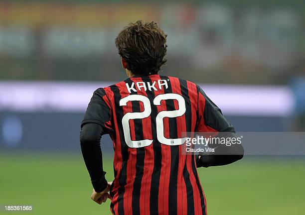 Ricardo Kaka of AC Milan during the Serie A match between AC Milan and Udinese Calcio at Giuseppe Meazza Stadium on October 19, 2013 in Milan, Italy.