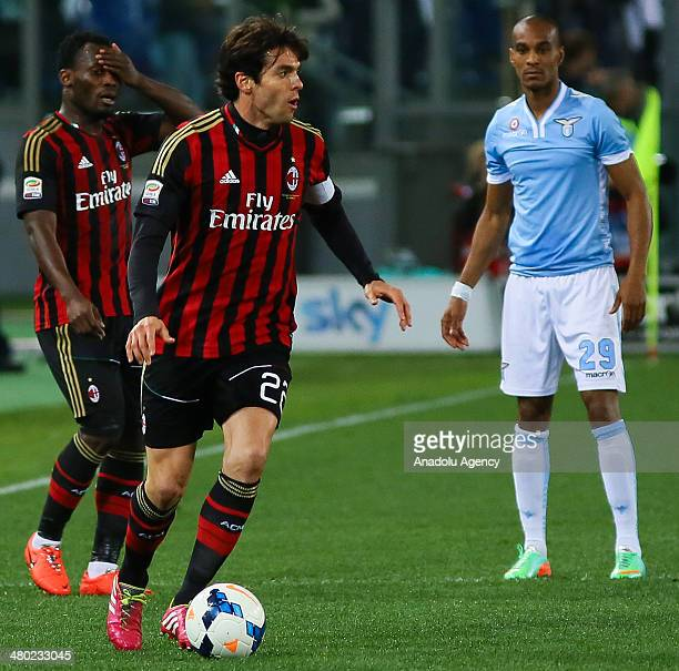 Ricardo Kaka of AC Milan in action during the Serie A football match between SS Lazio and AC Milan at Stadio Olimpico in Rome Italy on March 23 2014