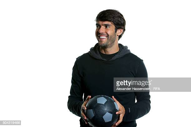Ricardo Kaka of Brasil poses for a portrait prior to the FIFA Ballon d'Or Gala 2015 at the Park Hyatt hotel on January 10 2016 in Zurich Switzerland