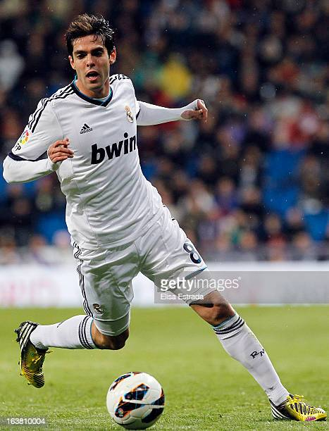 Ricardo Kaka of Real Madrid in action during the La Liga match between Real Madrid and RCD Mallorca at Estadio Santiago Bernabeu on March 16 2013 in...