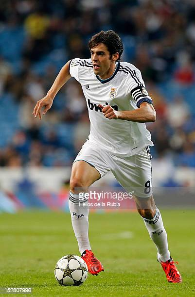 Ricardo Kaka of Real Madrid in action during the Santiago Bernabeu Trophy match between Real Madrid and Millonarios CF at Santiago Bernabeu stadium...