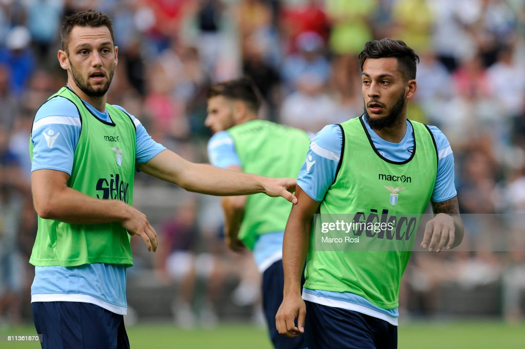 Ricardo Kishna and Stefan De Vrij of SS Lazio during the SS Lazio Training Camp - Day 1 on July 9, 2017 in Rome, Italy.