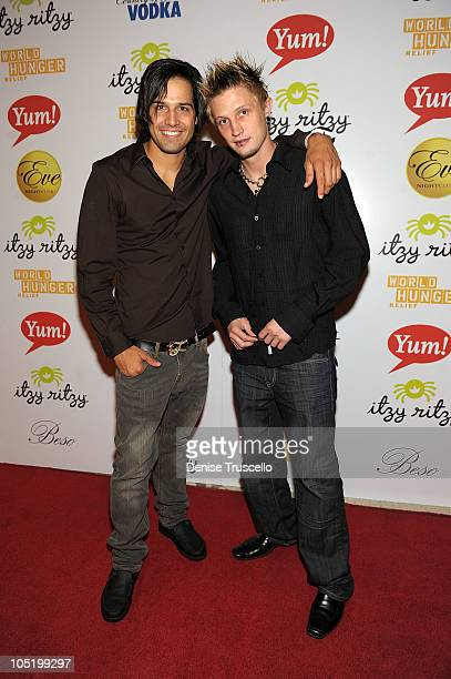Ricardo Laguna and Kane Insane Friesen attend World Hunger Relief Fundraiser for UN World Food Program at Eve Nightclub on October 11 2010 in Las...