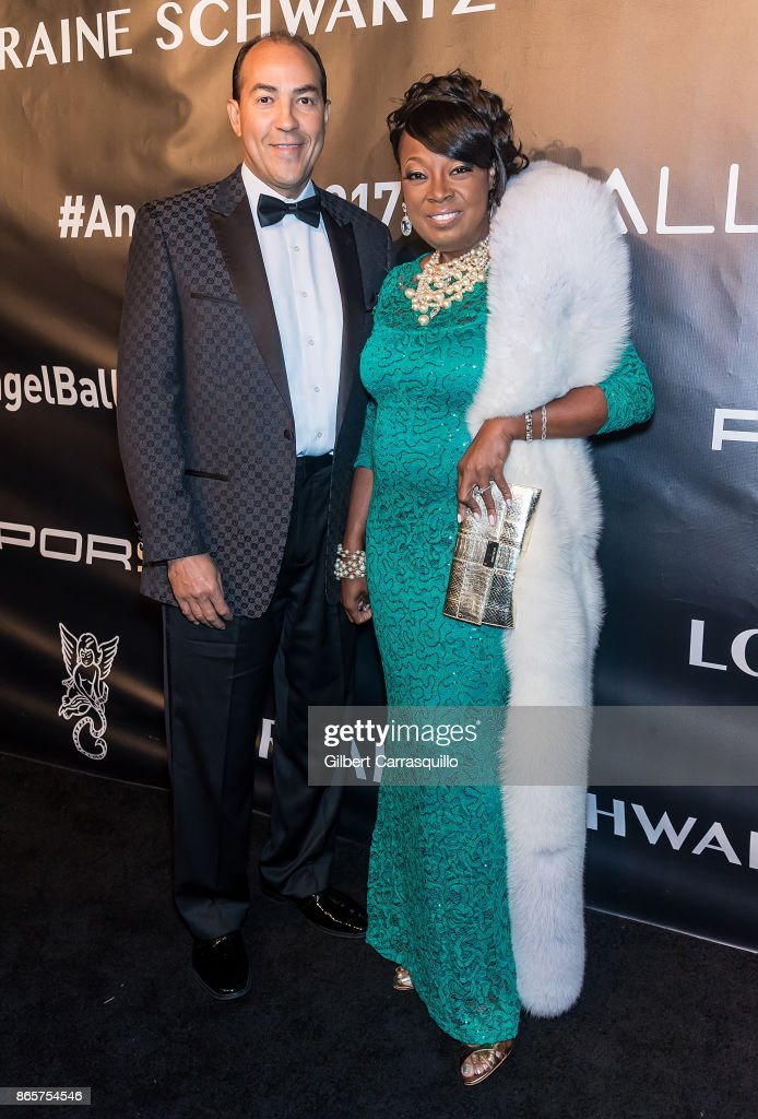 Ricardo Lugo and Star Jones arrive at Gabrielle's Angel Foundation's Angel Ball 2017 at Cipriani Wall Street on October 23, 2017 in New York City.