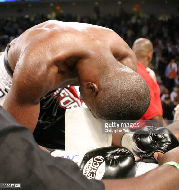 Ricardo Mayorga black trunks fights Vernon Forrest black and red trunks during a 12round WBC/WBA Welterweight Championship held at The Orleans Arena...